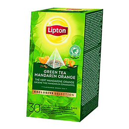 Te Piramide Green Tea Mandarin Orange 30 Bols Lipton