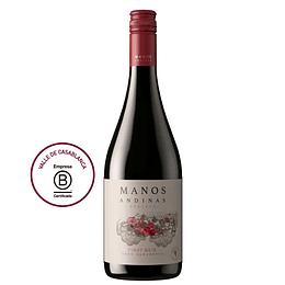 Vino Tinto Pinot Noir Reserva 750 Ml Manos Andinas