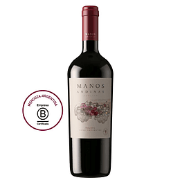 Vino Tinto Malbec Reserva 750 Ml Manos Andinas
