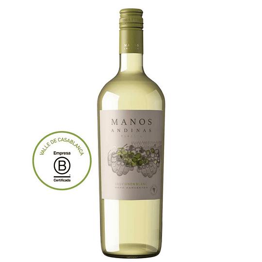 Vino Blanco Sauvignon Blanc Reserva 750 Ml Manos Andinas