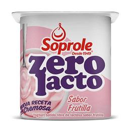 Yoghurt Batido Zerolacto Frutilla Pack 4 Unidades 120 Gr Soprole