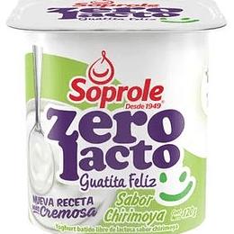 Yoghurt Batido Zerolacto Chirimoya Pack 4 Unidades 120 Gr Soprole