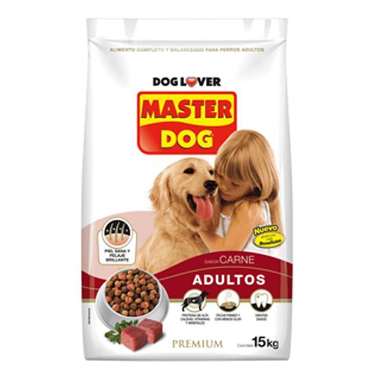 Alimento Para Perros Adultos Carne, Arroz y Vegetales 15 Kg Master Dog