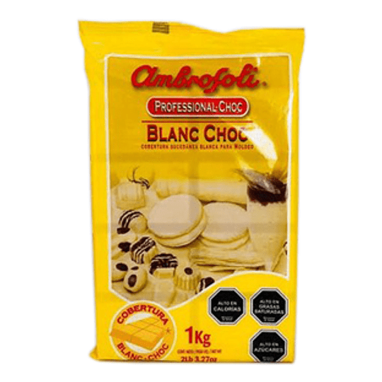 Cobertura Chocolate Blanco 1 Kg Ambrosoli