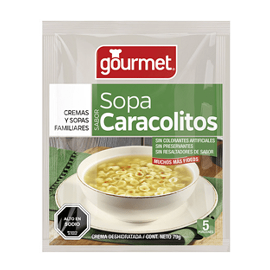 Sopa Deshidratada Caracolitos 74 Gr Gourmet