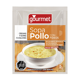 Sopa Pollo y Fideos 70 Gr Gourmet