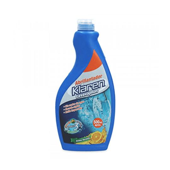 Abrillantador Liquido Lavavajillas Aroma Naranja 500 Ml Klaren