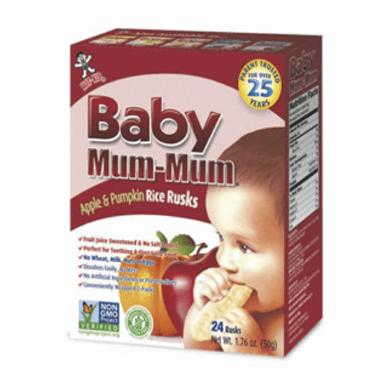 Galleta de Arroz Apple & Pumpkin Unidad 50 Gr Baby Mum-Mum