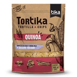 Chips Tortilla Quinoa Roja y Sesamo 180 Gr Tika