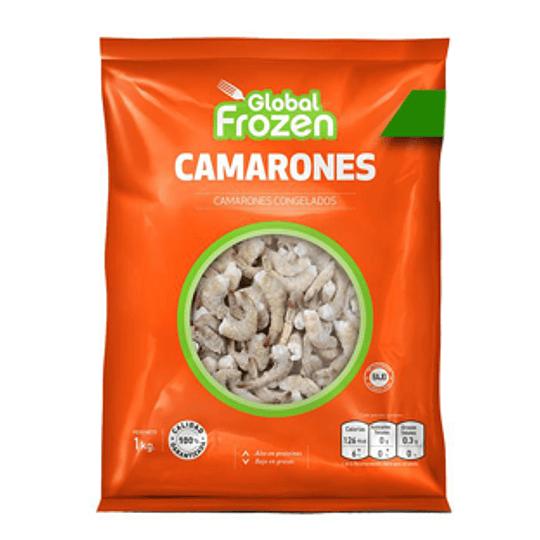 Camaron Ecuatoriano 36/40 Crudo Pelado Desvenado 1 Kg Global Frozen