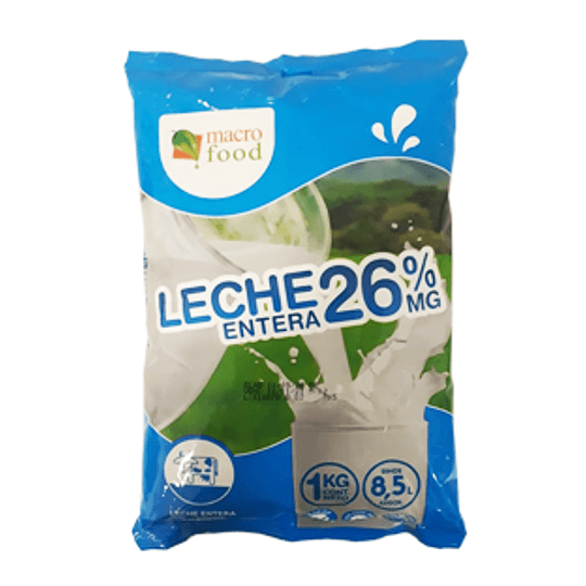 Leche Entera En Polvo 26% de Grasa 1 Macrofood