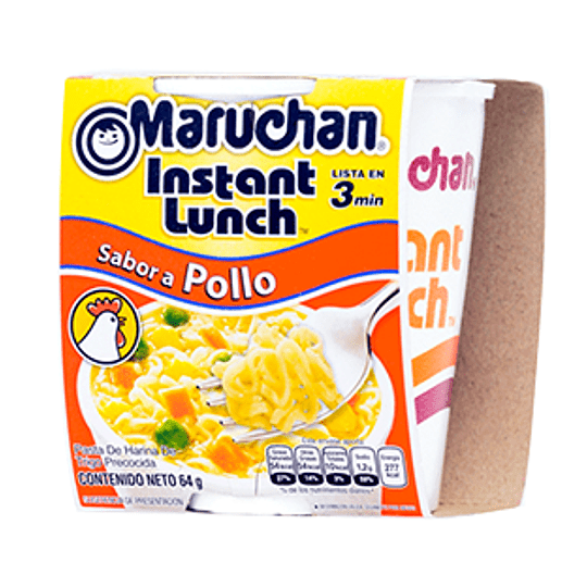 Comida Instantánea Fideos con Sabor Pollo Pote 64 gr Maruchan