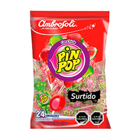 Coyac Pin Pop con Chicle Sabor Surtido Bolsa 430 Gr Ambrosoli