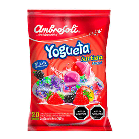 Yogueta Surtida Frutal Bolsa 360 Gr Ambrosoli