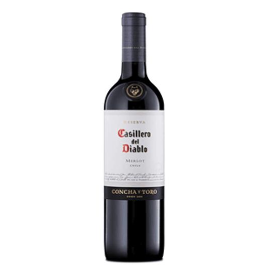 Vino Tinto Merlot Reserva Botella 750 Ml Casillero de Diablo