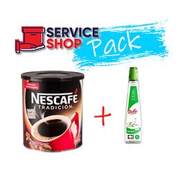 Pack Café Tradición Nescafé 400GR + Endulzante Daily Stevia 270ML