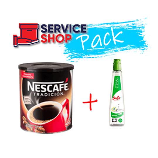 Pack Café Tradición Nescafé 400 Gr + Endulzante Daily Stevia Liquido 270 Ml