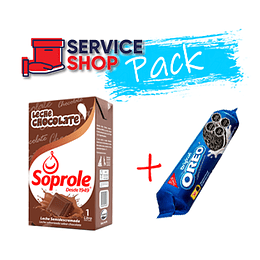 Pack Leche Chocolate Soprole 1Ltr + Galleta Oreo 126gr