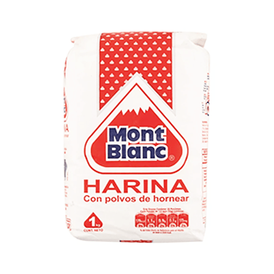 Harina Con Polvo 1 Kg Mont Blanc