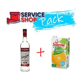 Pack Vodka Stolichnaya Ruso 750cc + Jugo de Naranja Tetra 1Lt Soprole