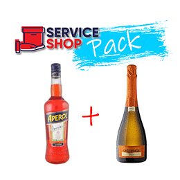 Pack Licor Aperol Botella 750ml + Espumante Brut 750cc Undurraga