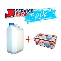 Pack Cloro Líquido 3% Bidón 5Lt + Mascarilla PLY 50unid