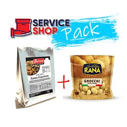 Pack Pasta Fresca Gnocchi de Papa 500gr Rana + Salsa Española 1kg Gourmet