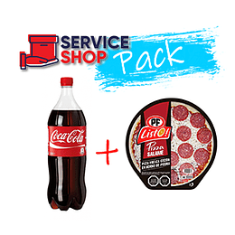 Pack Pizza Salame 430 gr PF + Coca Cola Desechable 1,5 Lt