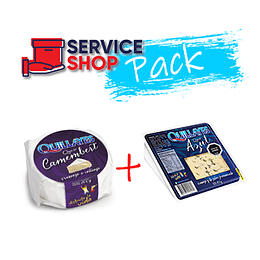 Pack Queso Camembert 100gr Quillayes + Queso Azul 100gr Quillayes