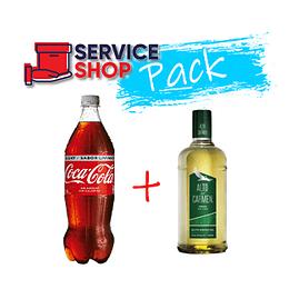 Pack Pisco Alto Del Carmen 750 Cc + Coca Cola Light 1,5 Lt