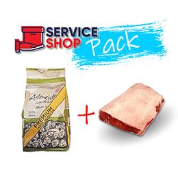 Pack Carbon Especial 2,5 Kg + Lomo Liso Vacuno Cat. V Pieza 1 Kg