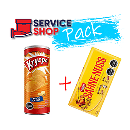 Pack Papas Fritas Sabor Queso 130 Gr Kryzpo + Chocolate Sahne-Nuss 250 Gr Nestle