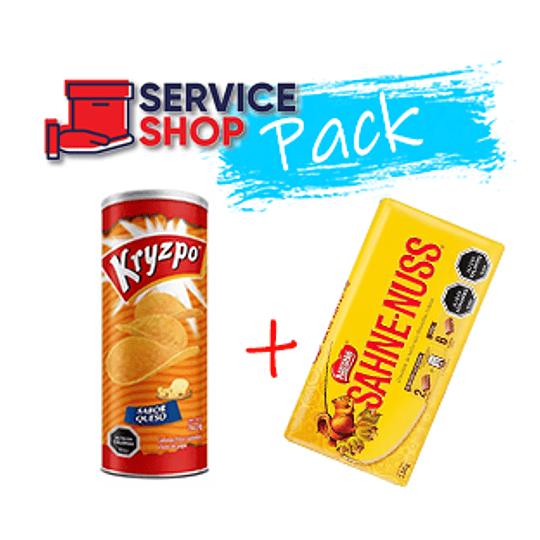 Pack Papas Kryzpo Queso 130 Gr  + Sahne-Nuss 250 Gr Nestle