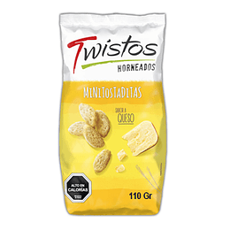 Mini Tostadas Sabor Queso 110 Gr Twistos