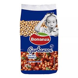 Garbanzos Sin Piel 1 Kg Bonanza