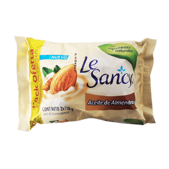 Jabon en Barra Almendra Pack 2 X 150 Gr Le Sancy