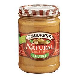Mantequilla de Mani Natural Chunky Unidad 454 Gr Smucker's