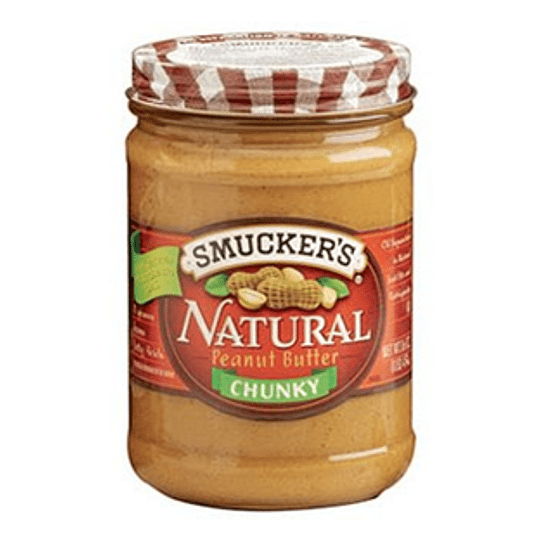 Mantequilla de Mani Natural Chunky Unidad 454 Gr Smucker's