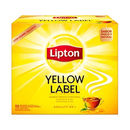 Te Yellow Label Caja de 50 Bolsitas Lipton