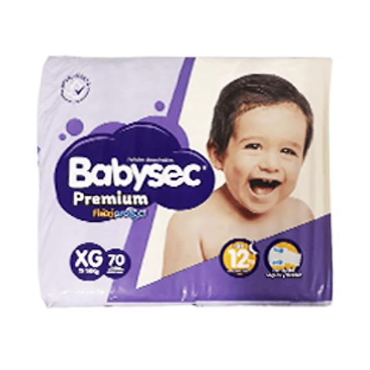 Pañal Niño Premium XG Paquete 70 Und Babysec