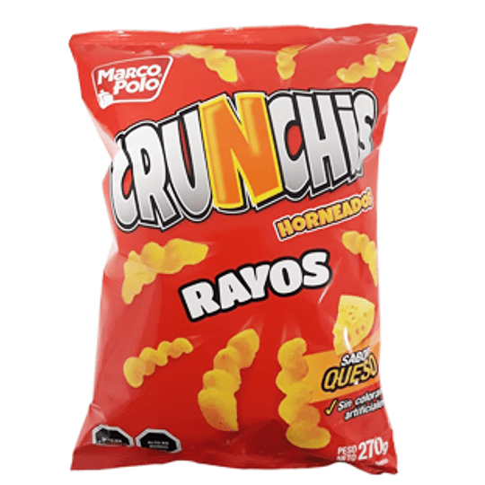 Crunchis Rayo Queso 270 Gr Marco Polo
