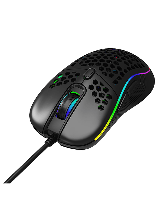 Mouse Gamer Crow Feather RGB