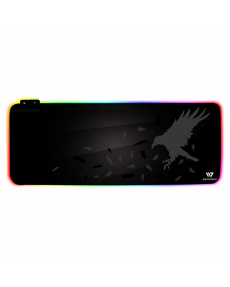 Mousepad Gamer Crow Nest RGB XL