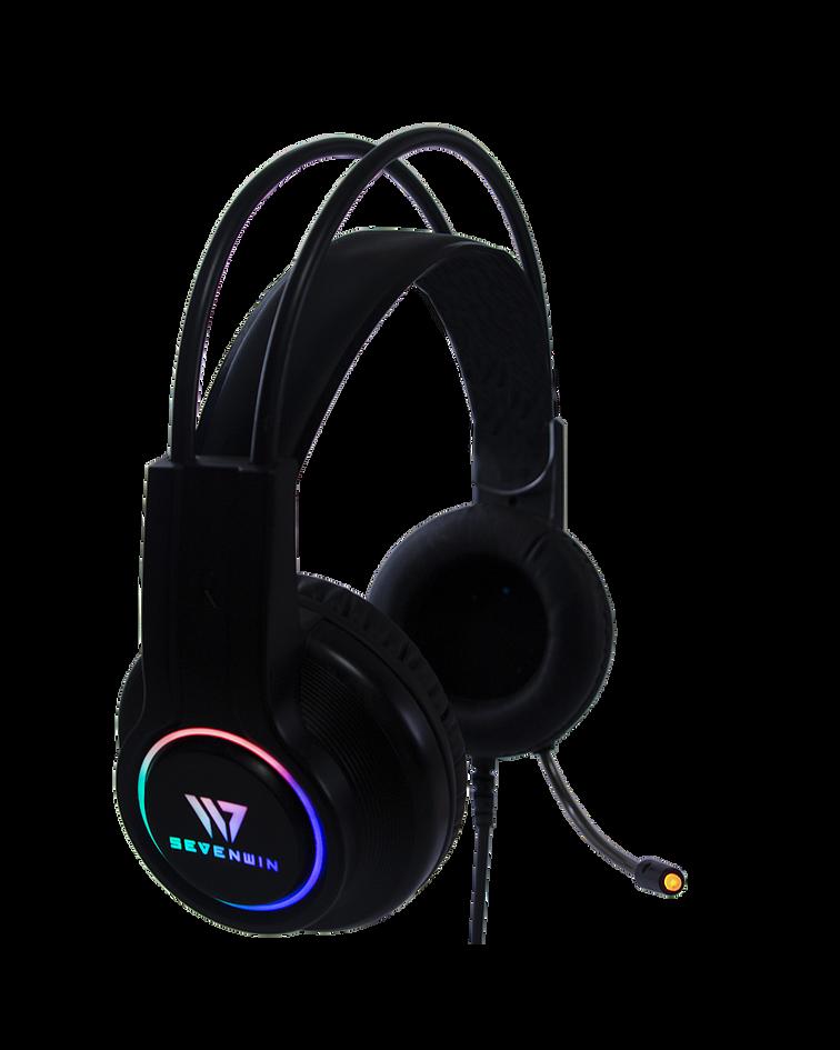 Audifonos Gamer Crow Sense Black RGB 7.1 PS4/PS5/PC