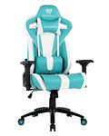 Silla Gamer Nova White Turquoise Space