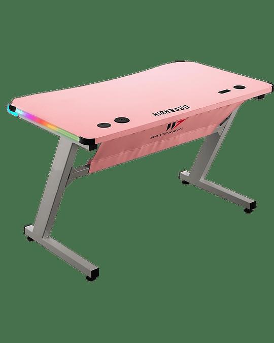 Escritorio Gamer Infinity Pink - White RGB