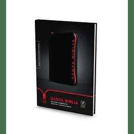 Biblia Compacta NTV - Negro con cierre rojo