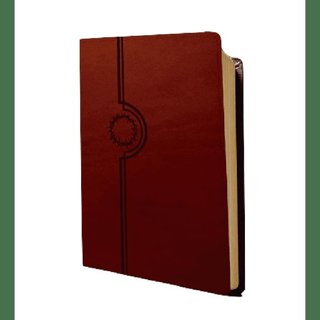 Biblia de Estudio NTV del diario vivir - Cuero Marrón y Beige