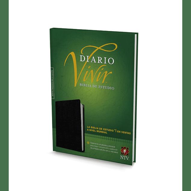 20% Dcto - BIBLIA + LIBRETA DE APUNTES DE ESTUDIO NTV CON ÍNDICE - Cuero Negro