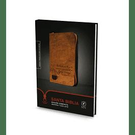 Biblia NTV Edición Compacta Sentipiel Café Latte con Cierre